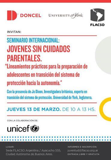 Seminario internacional: Jóvenes sin cuidados parentales