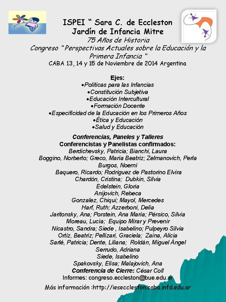 """""""Perspectivas Actuales sobre la Educación y la Primera Infancia"""""""