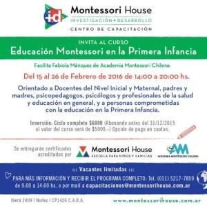 Flyer Programa Montessori en la Primera Infancia