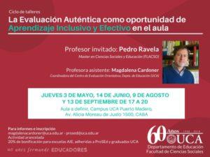 Uca Calendario Academico.Ciclo De Talleres En Caba La Evaluacion Autentica Como